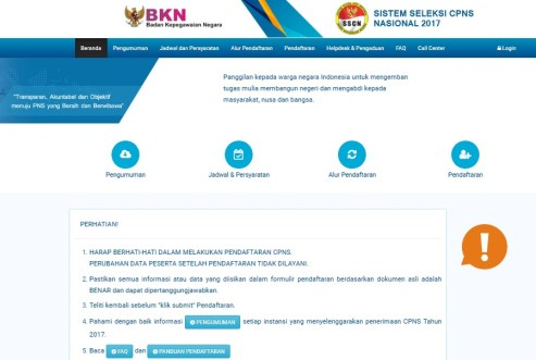 Petunjuk Pendaftaran CPNS Online Kaltara Kalimantan Utara 2018 SMA SMK D3 S1