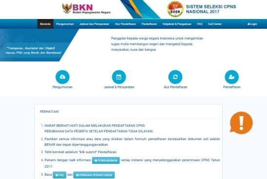 Petunjuk Pendaftaran CPNS Online Kalsel Kalimantan Selatan 2018 SMA SMK D3 S1