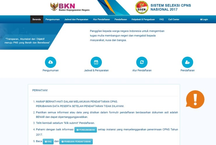 Pengumuman Hasil Seleksi Administrasi CPNS KEMENDAG 2018 Validasi Berkas Asli