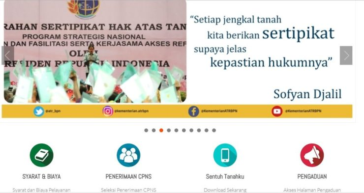 Pengumuman Hasil Akhir CPNS BPN Lulus SKB Badan Pertanahan Nasional