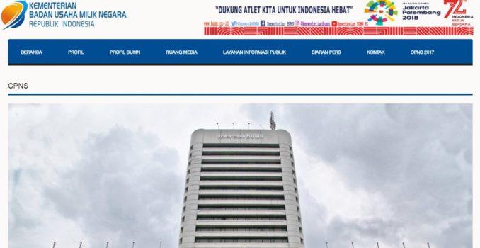Pengumuman Nama Lulus Hasil Seleksi Administrasi CPNS Kementerian BUMN 2017
