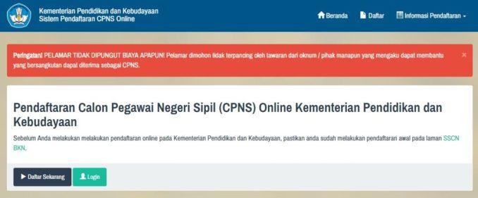 Daftar Peserta Tes SKD Seleksi Kompetensi dasar CPNS Kemendikbud 2017.