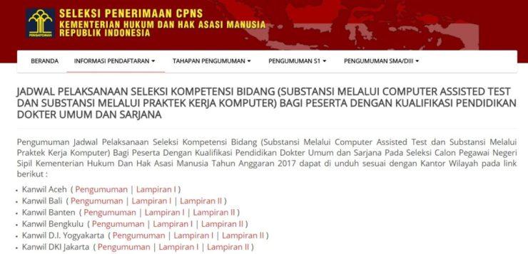 Jadwal Lokasi Seleksi Kompetensi Bidang SKB CPNS Kemenkumham Lulusan Sarjana