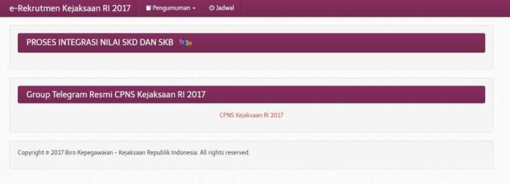 Hasil SKB Kejagung Lulus Tahap Akhir CPNS Kejaksaan Agung 2017