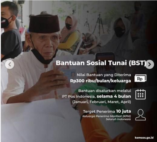 Bansos BST Bantuan Sosial Tunai 2021