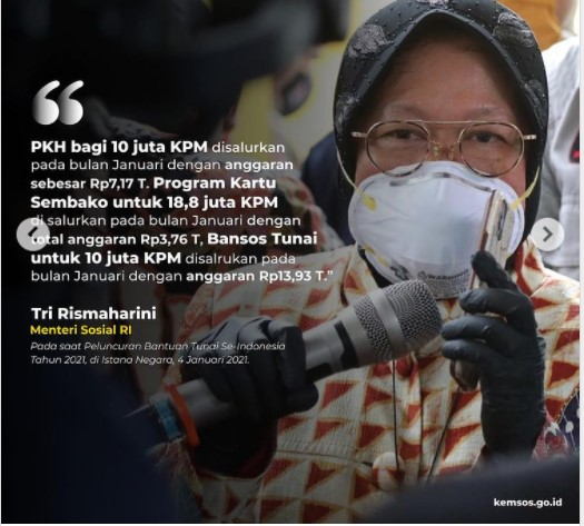 PKH Bagi 10 jt KPM 3 Bansos 2021 Disalurkan Kemensos PKH BPNT BST Kementerian Sosial Simak Syaratnya