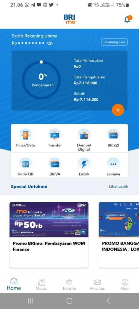 Cara Top Up Saldo DANA Via Mobile Banking BRI