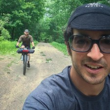 Obligatory ride selfie while riding along Silver Lake Road, brought to you by Jonathan.