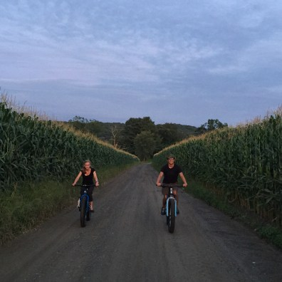 Jonathan and his wife rolling fatties through historic Deerfield MA the night before D2R2.
