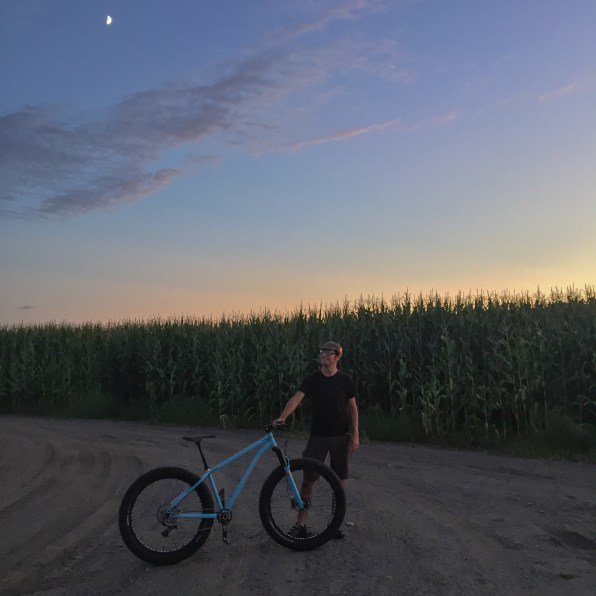 Nature was clearly conspiring with Jonathan to result in this glam shot with his Wiseman Frameworks fatbike.