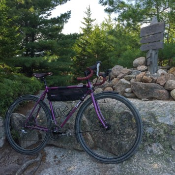 Sadie, my Surly Straggler, at the top of Day Mountain