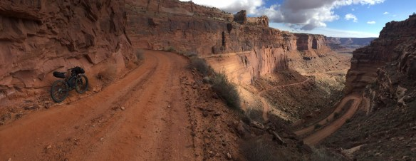The cliff side switchbacks of Shafer Canyon Rd.