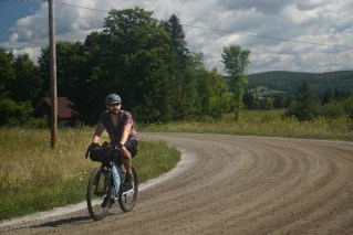 Enjoying miles of fine Vermont Gravel