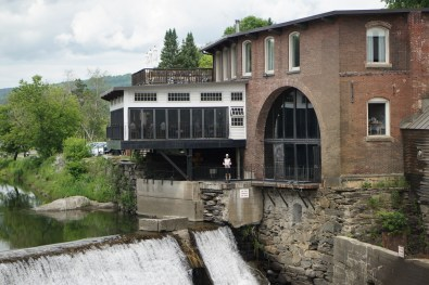 The falls next to Simon Pearce on the Ottauquechee river