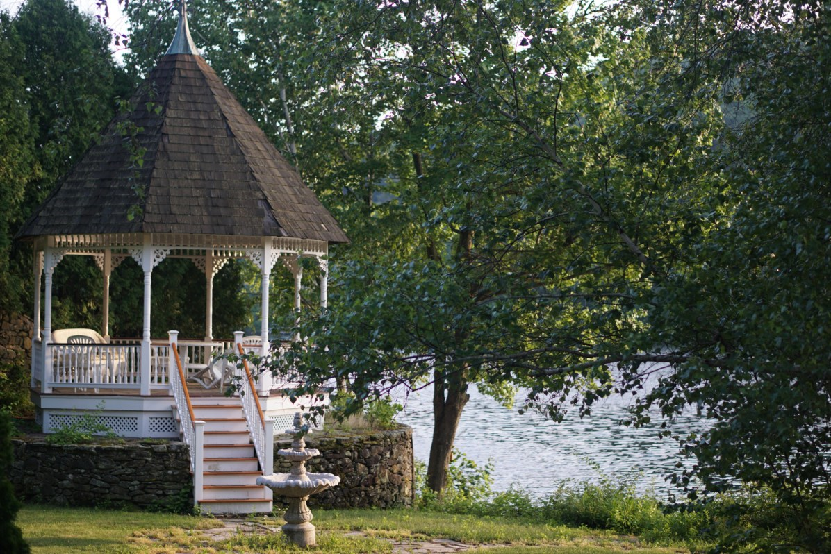 Gazebo on Lake Quinsigamond