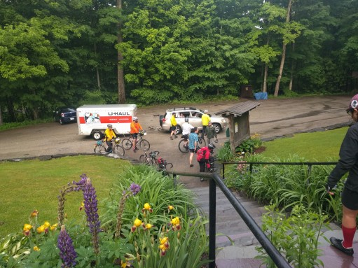The crew arriving at Gifford woods