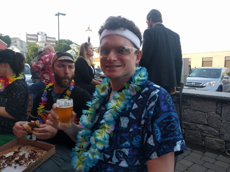 Beer and pizza finale at Wormtown