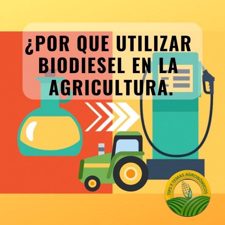 Biodiesel en la agricultura.