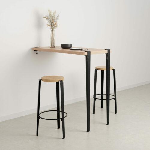 pieds de table haute en acier design