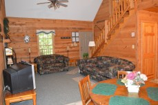 tip-to-n cabin with rustic living room