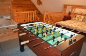 foosball game table in this townsend cabin rental