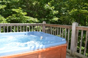 very private hot tub