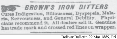 Browns Iron Bitters