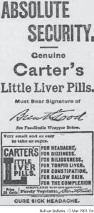 Absolute Security Carter's Little Liver Pills