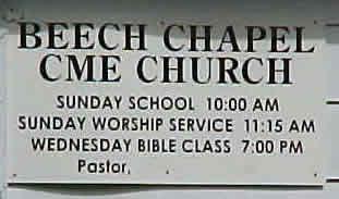 Beach Chapel Church Sign