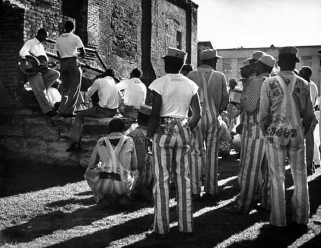 The 1950's group The Prisonaires performing in the prison yard. Tennessee State Penitentiary