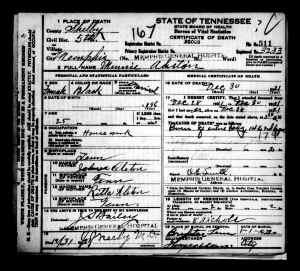 Alston, Minnie - Death Certificate