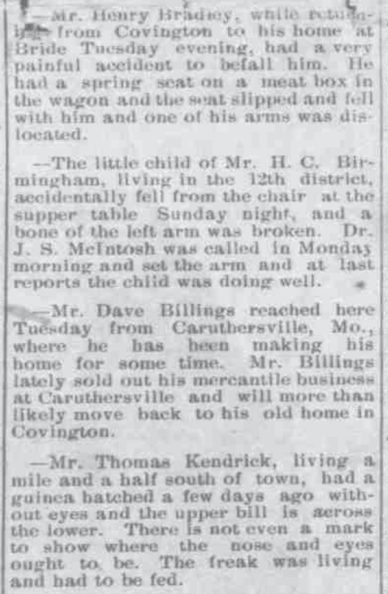 Covington June 17 1898 Local News Happenings