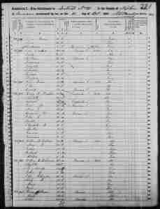 Census 1850 District 10 Tipton County Tennessee