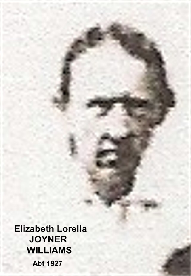 JOYNER, Elizabeth Lorella WILLIAMS