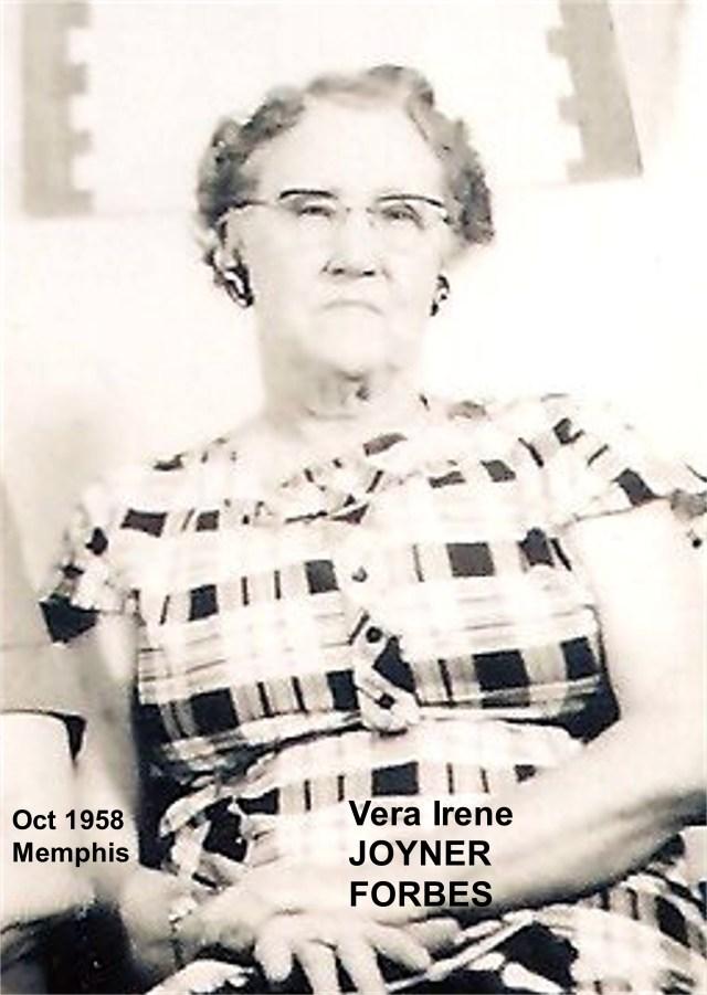 JOYNER, Vera Irene FORBES
