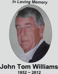 Williams, John Tom - Obituary