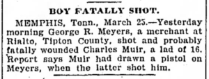 Charles Muir - Boy Fatally Shot