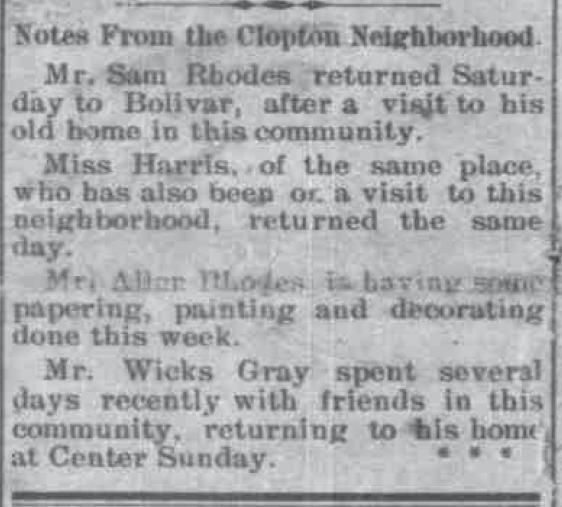 Clopton Neighborhood