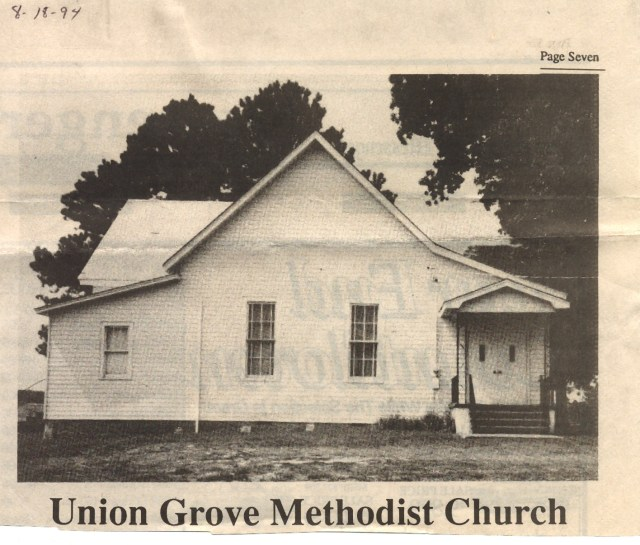 WILKERSONS at Union Grove Methodist Church
