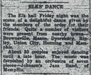 Elks Dance at Covington
