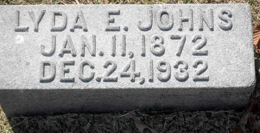 Lyda Ella Williams Johns Headstone