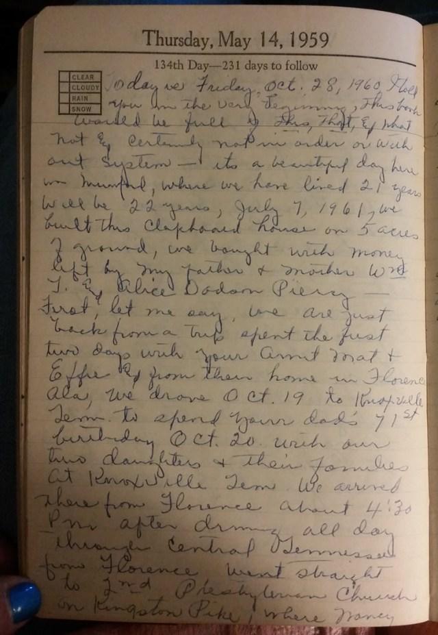 14 May 1959 - Mary Francis Piercy Nichols