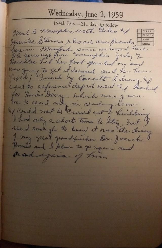 3 June 1959 - Mary Nichols