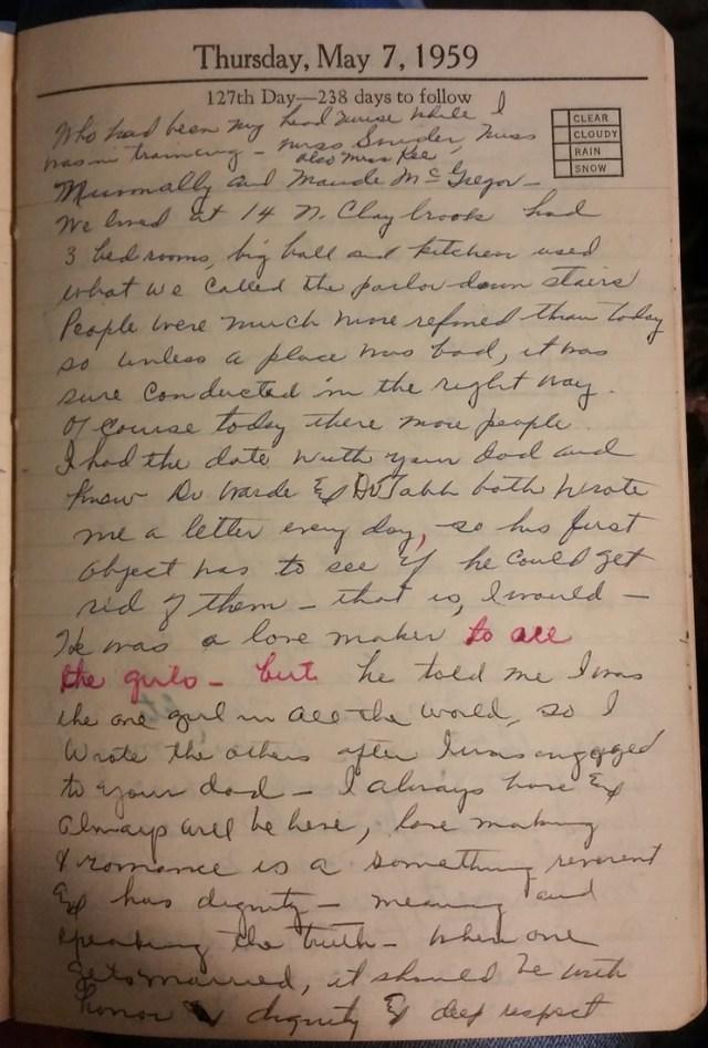 May 7, 1959 - Mary Frances Piercy Nichols