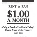 Fan - Keep Cool, Rent a fan, $1.00 a Month, Only a few left! - Don't Delay!, Phone your order today, Main 5000, Nashville Ty. & Light Co. - Keep Cool, Rent a fan, $1.00 a Month, Only a few left! - Don't Delay!, Phone your order today, Main 5000, Nashville Ty. & Light Co.