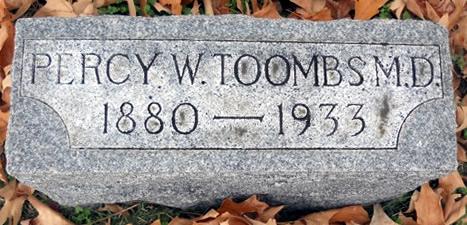 Percy W. Toomb Headstone