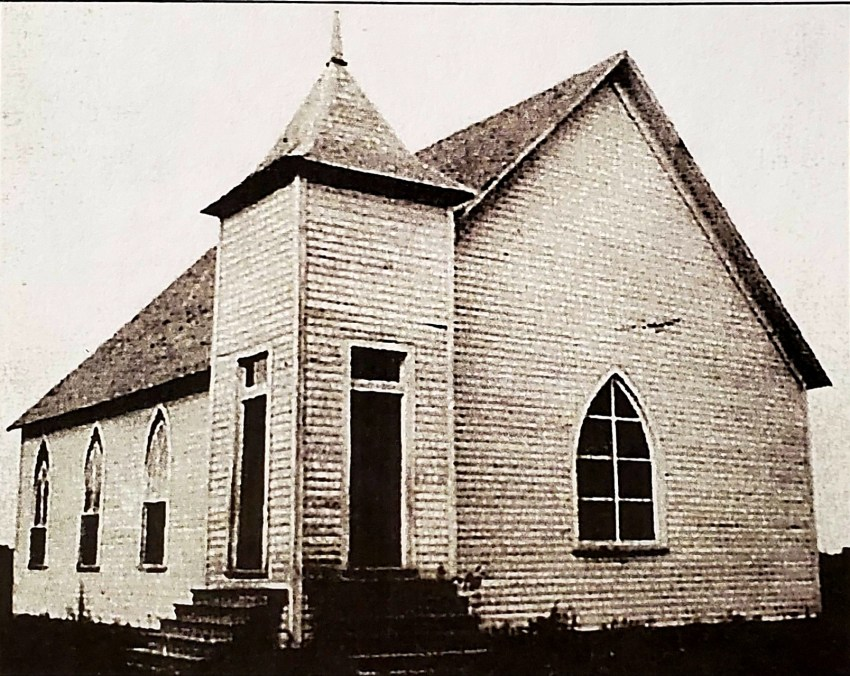 The Charleston Baptist Church as it appeared prior to the tornado of May 1933. Many of the church members were killed during the tornado and the church was completely demolished. CHurch members and volunteers worked diligently and rebuilt the church in a short time. Services were held in the church before the end of the year.