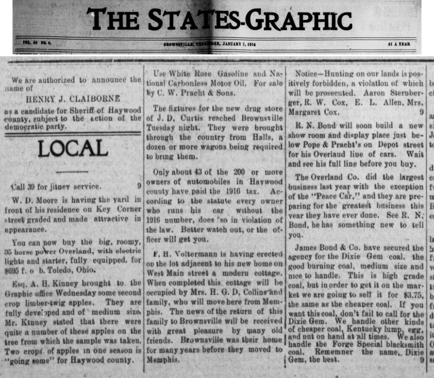 The States-Graphic 7 Jan 1916 Local News