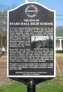 Byars-Hall High School Historic Marker