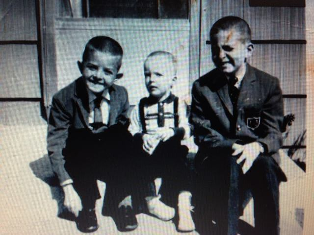 National Sibling Day, Kansas 1964. (l to r) Kenny, Danny and Rodney Faulk.